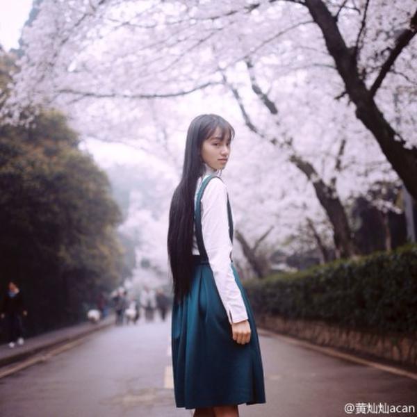 樱花图片 樱花女神 杨颖脚上樱花纹身图片