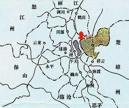 宾川县位置图