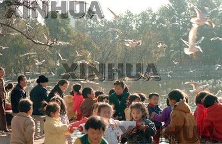 1989年9月25日,翠湖公园。新华社高光德摄