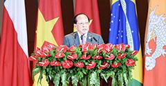 柬埔寨副首相賀南洪致辭