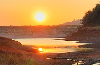 水源地日落