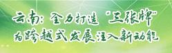 """云南:全力打造""""三张牌"""" 为跨越式发展注入新动能"""