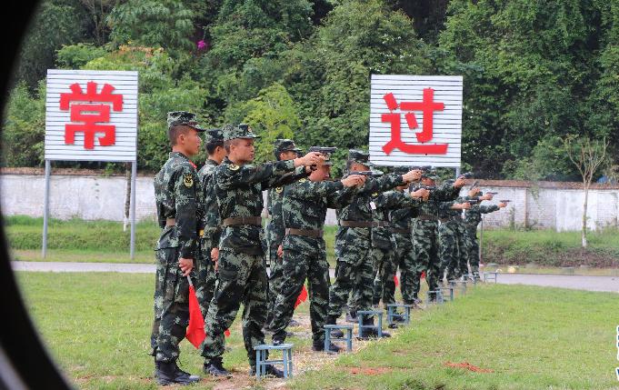 武警普洱支队举行综合练兵集训