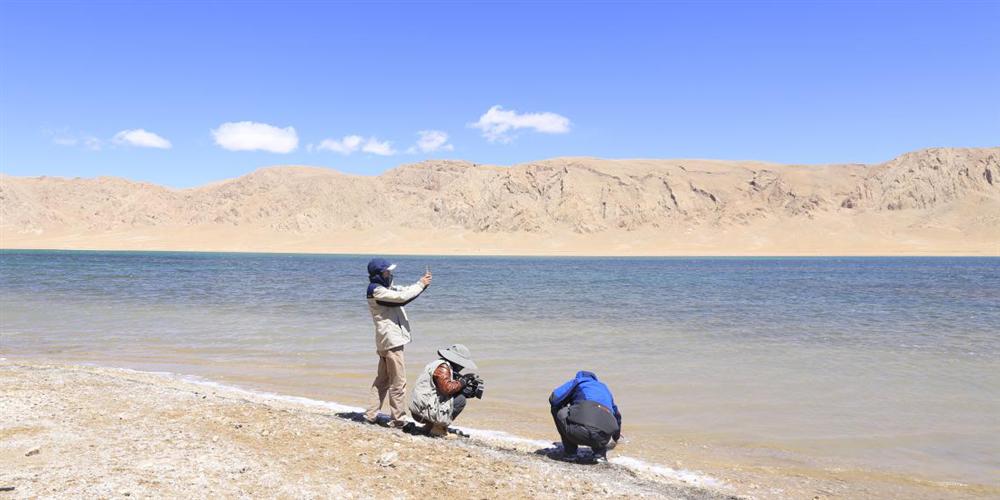 5月9日,石林天外天現場檢測風如措湖水,其PH值為9.68,活性較高