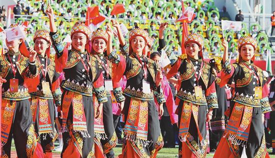 雲南省第十一屆民族運動會:歡歌勁舞譜寫團結和諧華章