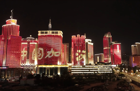 雲南多所城市為武漢亮燈