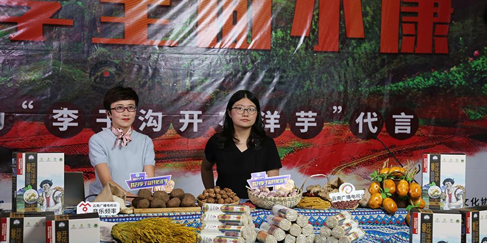 扶貧線上公益直播活動走進昆明東川助農戶增收