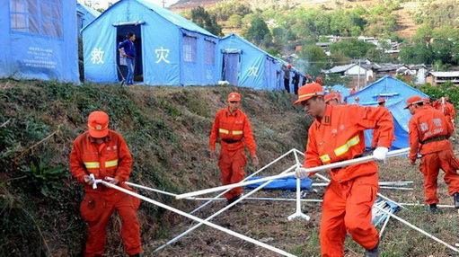 民政救灾帐篷搭建方法步骤图解