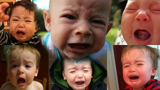 """美国一父亲网选""""最可爱的哭泣宝宝""""走红"""