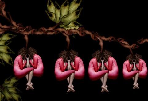 爱人人体艺术裸体_令人震撼的人体艺术 如花绽放的裸体模特