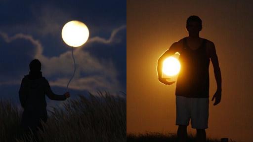 创意摄影师玩转日月图片
