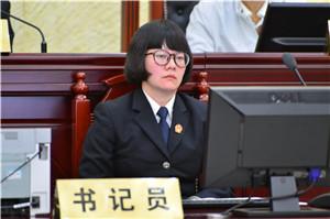 书记员进行庭审记录