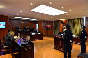 被告人阳厚军被羁押到庭候审