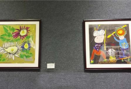 昆明市博物馆展出176件特殊少儿书画作品