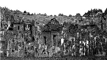 雲南馬關阿峨新寨打造民族文化特色旅遊村 農民版畫曾作為國禮贈送外賓
