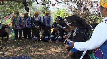 馬關縣坡腳鎮馬固新寨傣家祭祀太陽神
