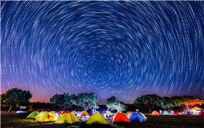 長湖--帳篷裏面數星星