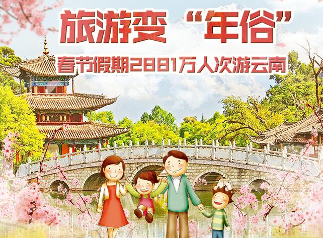 春節假期2881萬人次遊雲南