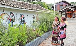 文化墻輝映農村新風貌