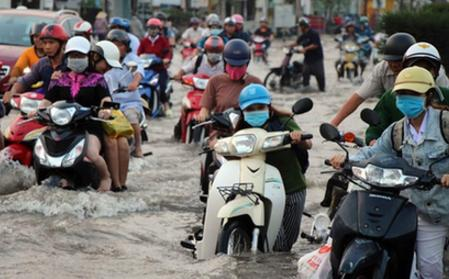 越南芹苴潮水泛濫