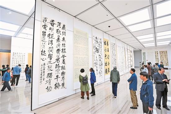 雲南省慶祝改革開放40周年美術書法攝影作品展在昆開幕