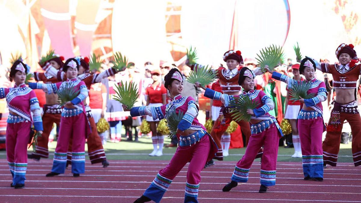 載歌載舞,喜迎雲南省第十一屆少數民族傳統體育運動會