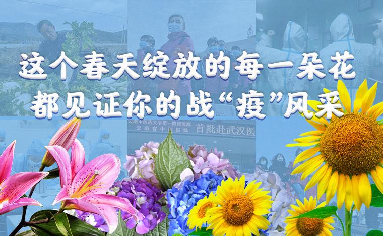 """這個春天綻放的每一朵花 都見證你的戰""""疫""""風採"""