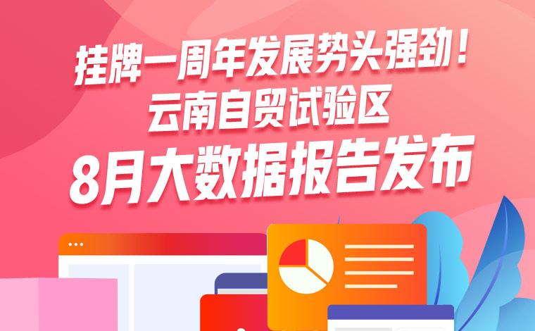 挂牌一周年發展勢頭強勁!雲南自貿試驗區8月大數據報告發布