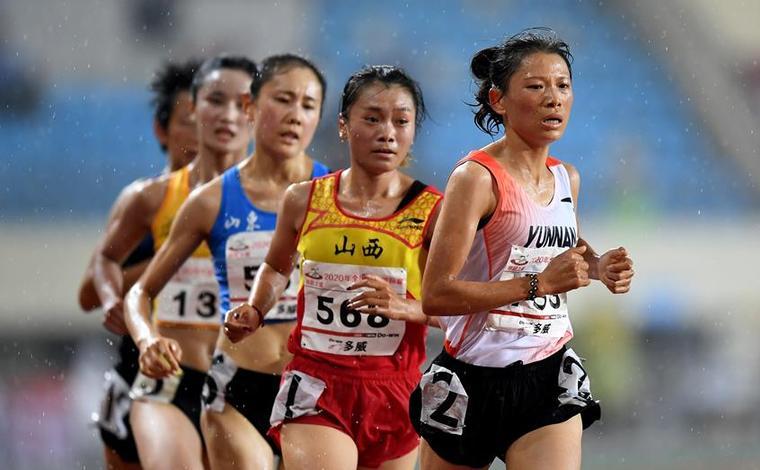 全國錦標賽:女子10000米決賽賽況