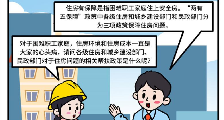 【漫畫】為困難職工解困脫困之住房政策篇