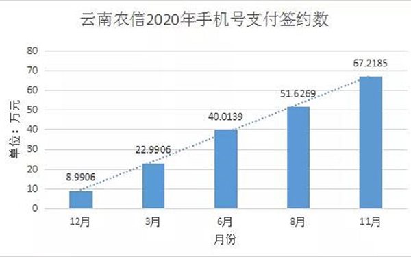"""雲南農信社""""手機號碼支付""""業務居全省地方性金融機構首位"""