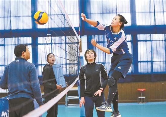雲南女排全力備戰全運會